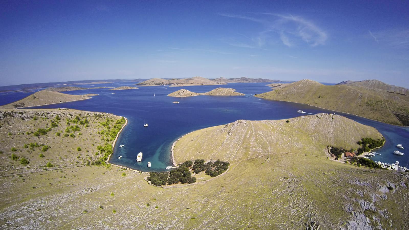 Kornati National park boating in Croatia