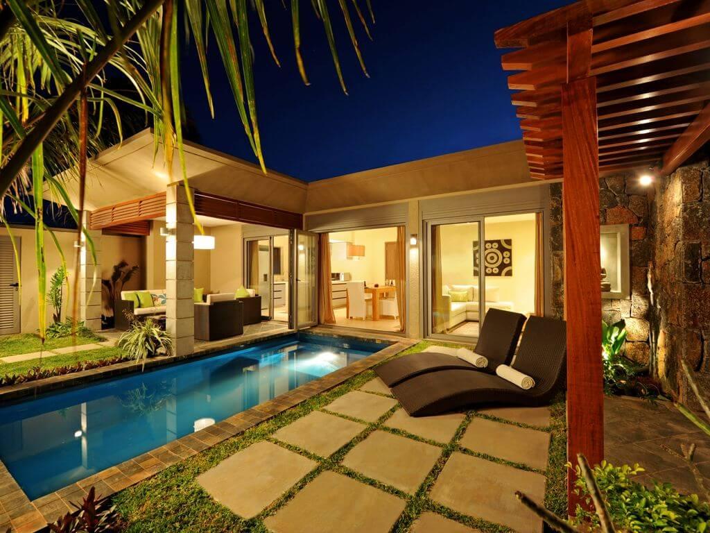private time in a villa