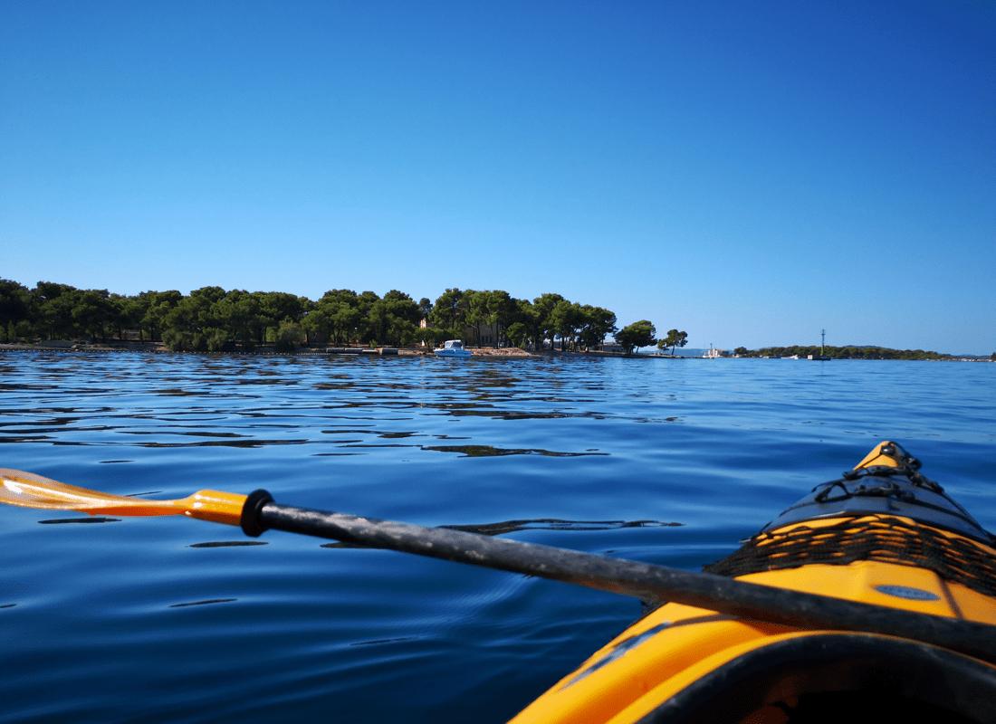 Kayak ride in Šibenik Croatia
