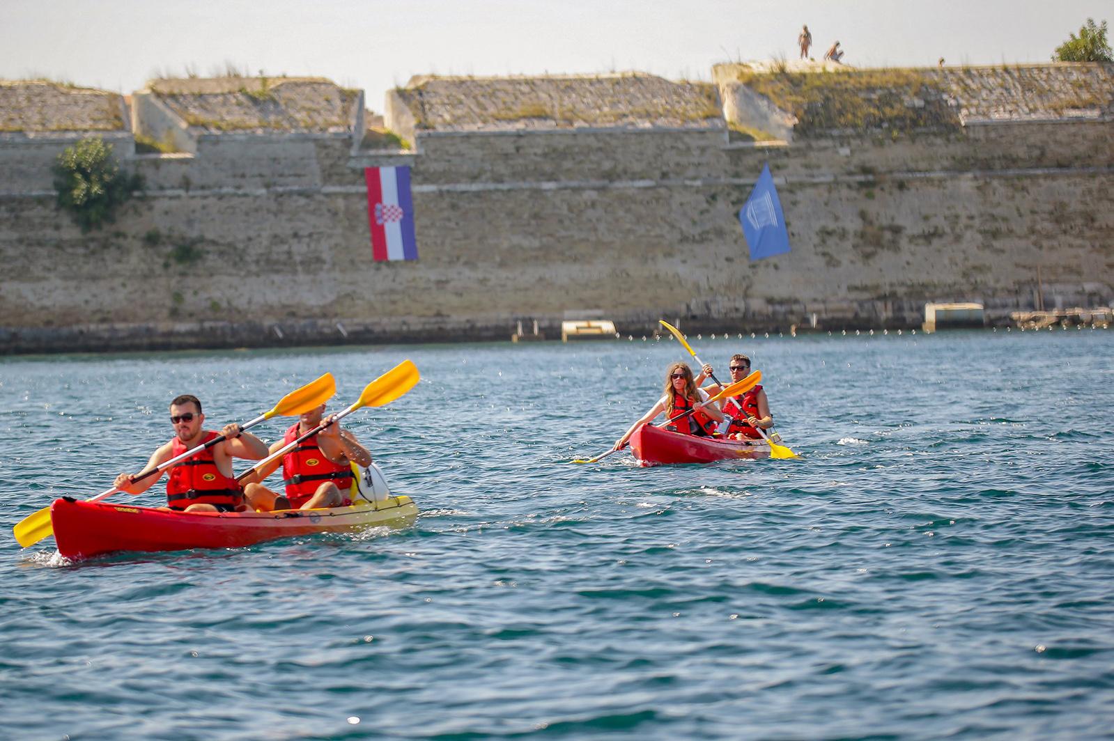 Kayaking adrenaline fun near Šibenik Croatia