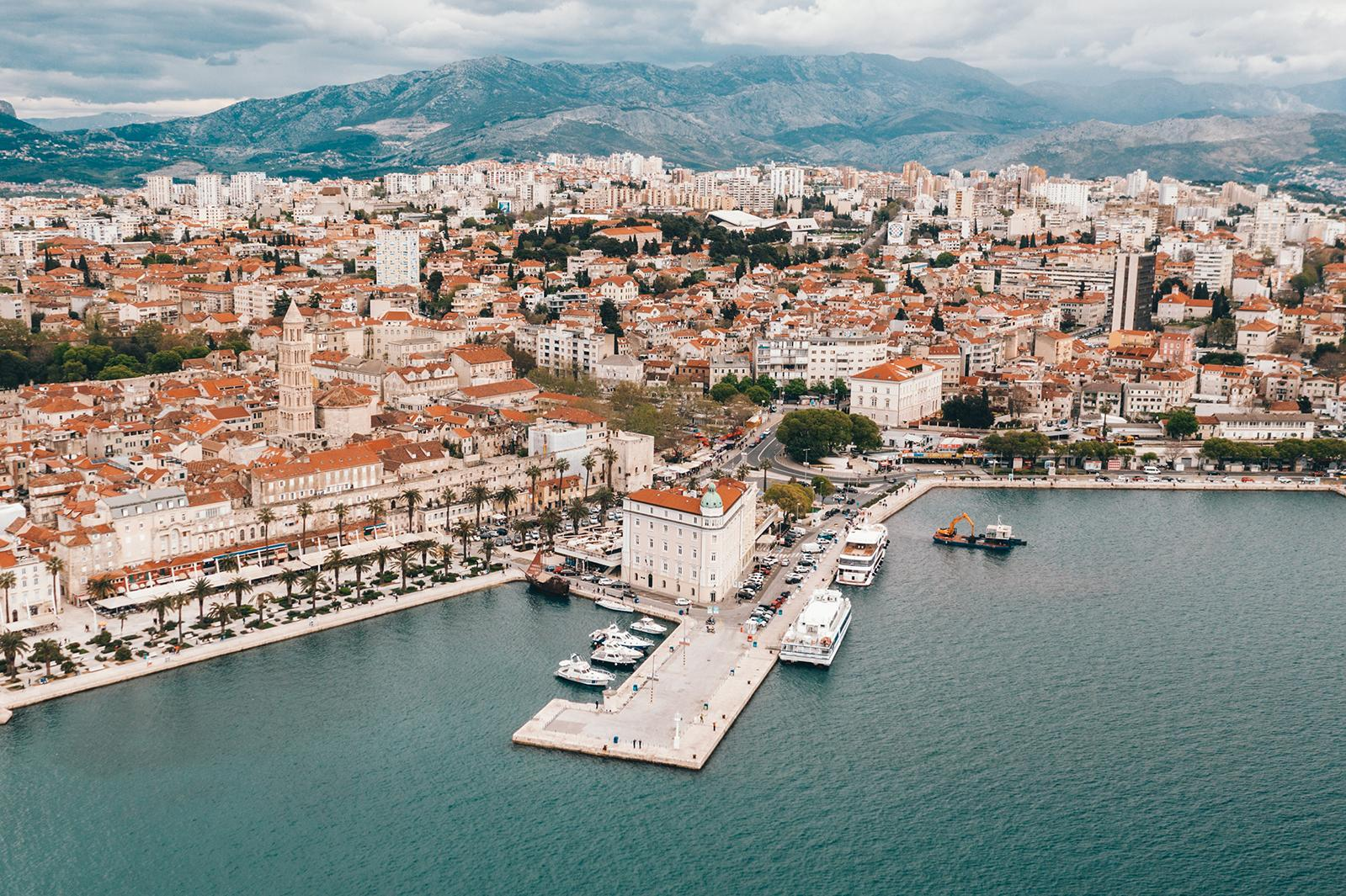 Diocletian Palace in Split Croatia: From residential palace to a city within a city
